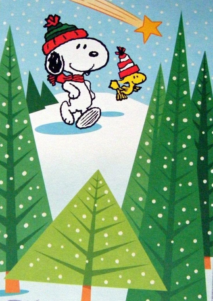 Snoopy And Woodstock Winter Www Picsbud Com