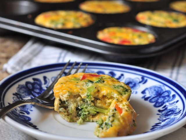 Meatless Night - crustless mini quiches | good & easy | Pinterest