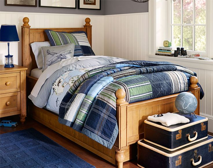 Pin by jodi robichaud on the boys rooms pinterest for Pottery barn bedroom designs