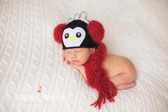 Newborn Baby Earmuff Penguin Christmas by PerfectlySweetItems   35 00Newborn Baby Penguin