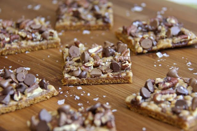 Salted Chocolate Toffee Pecan Squares | Sweets and Treats | Pinterest
