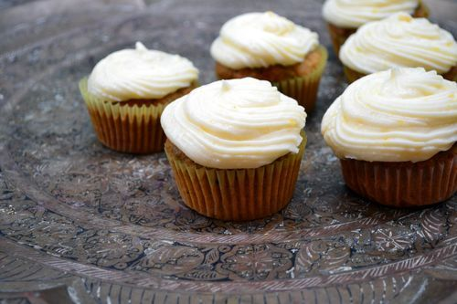 zucchini and carrot cupcakes with cream cheese frosting
