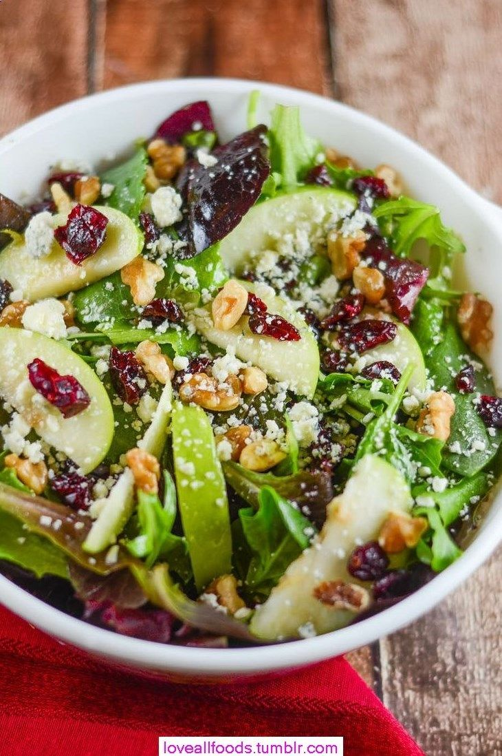 ... cranberries, walnuts, and gorgonzola with an apple cider vinaigrette