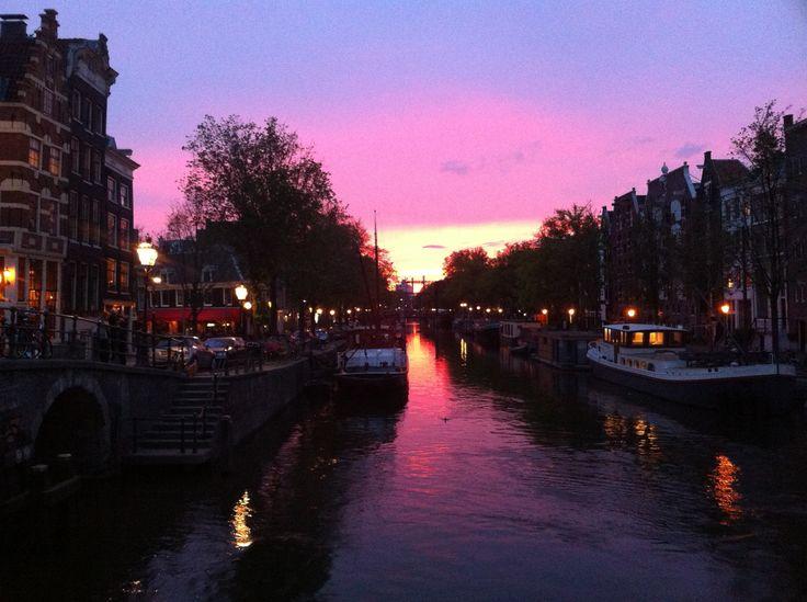 Amsterdam tramonto