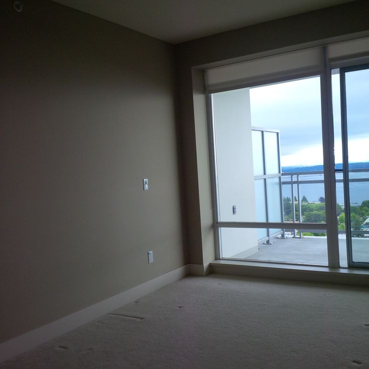 Master bedroom and balcony before white rock apartment for Bedroom designs with balcony
