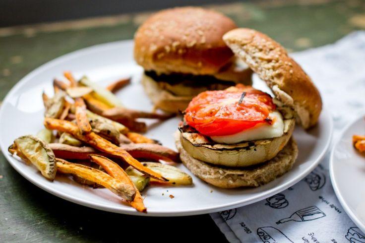 Grilled Eggplant Parm Sandwiches | Good Eats | Pinterest