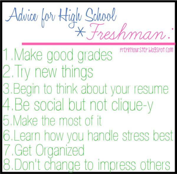freshman advice