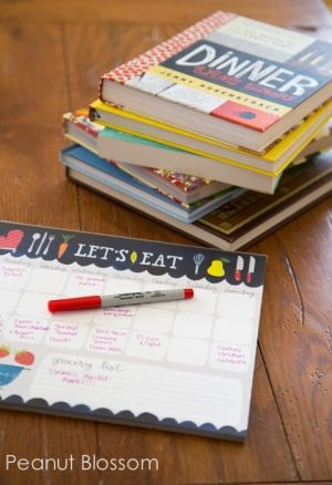 I really like her meal planning ideas for busy moms. One night for Soups & Salad, one for crockpot cooking on your busiest day, pizza or takeout for family game night, etc. Tons of awesome ideas to plan your week!