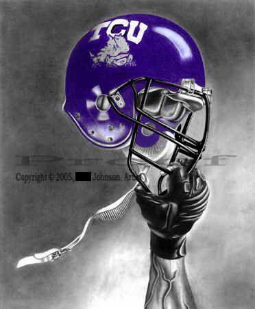TCU football helmet