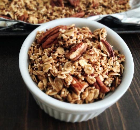 maple pecan quinoa granola | Good For You Recipes | Pinterest