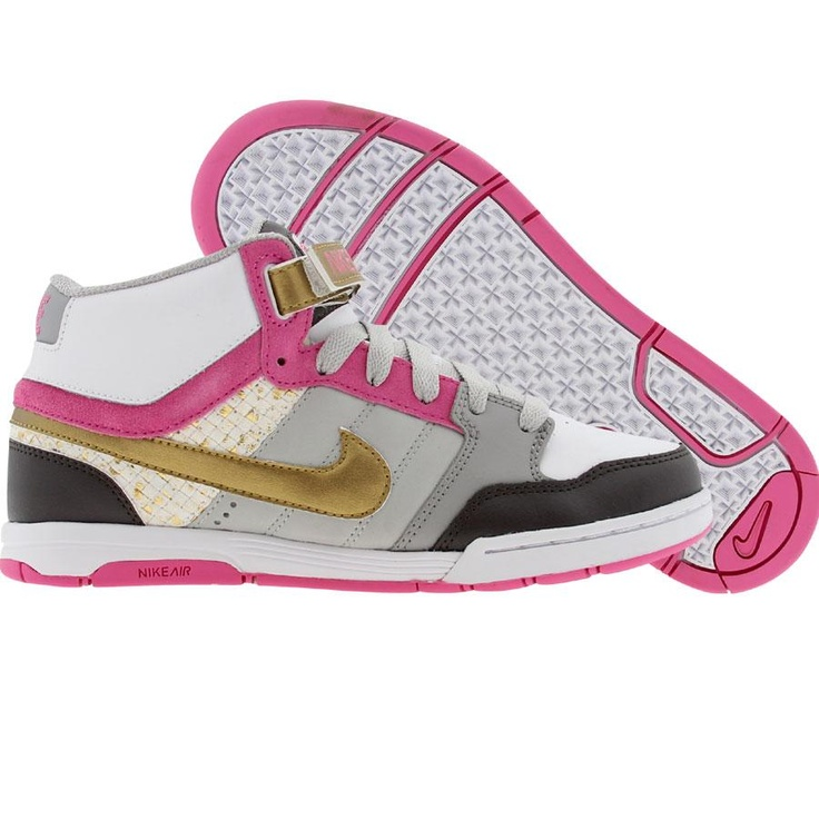 Nike Womens Air Mogan (neutral grey / metallic gold / white / pinkfire