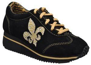 fleur de lis black amp gold tennis shoes