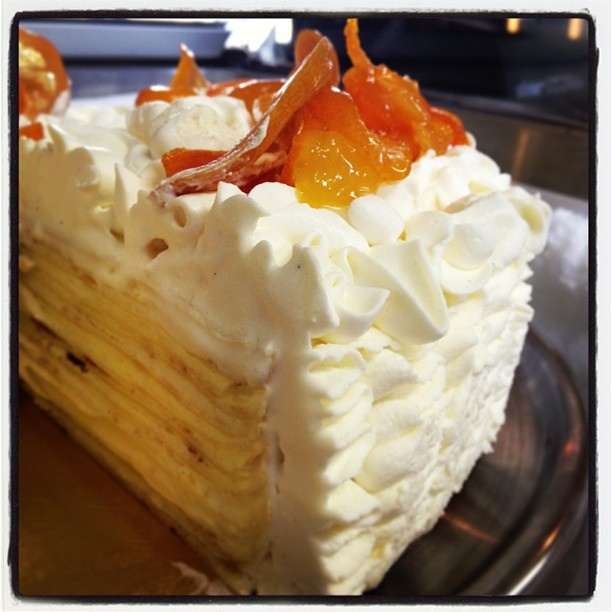 Meyer Lemon Crepe Cake with Mascarpone Frosting by Sharon Wang of ...