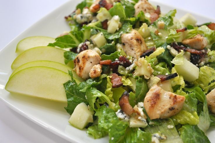 Chicken, bacon apple salad w/ pecan dressing - This would be a good ...