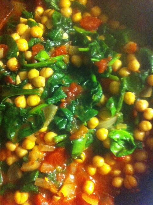 Spinach with Chickpeas and Cumin | Vegetarian | Pinterest