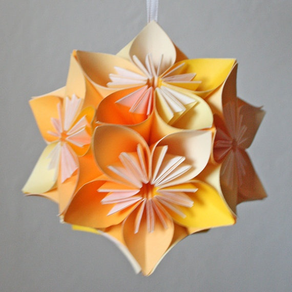 How to make origami flower ball