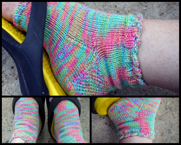 Knitting Pattern For Pedicure Socks : pedicure socks Knitting Pinterest