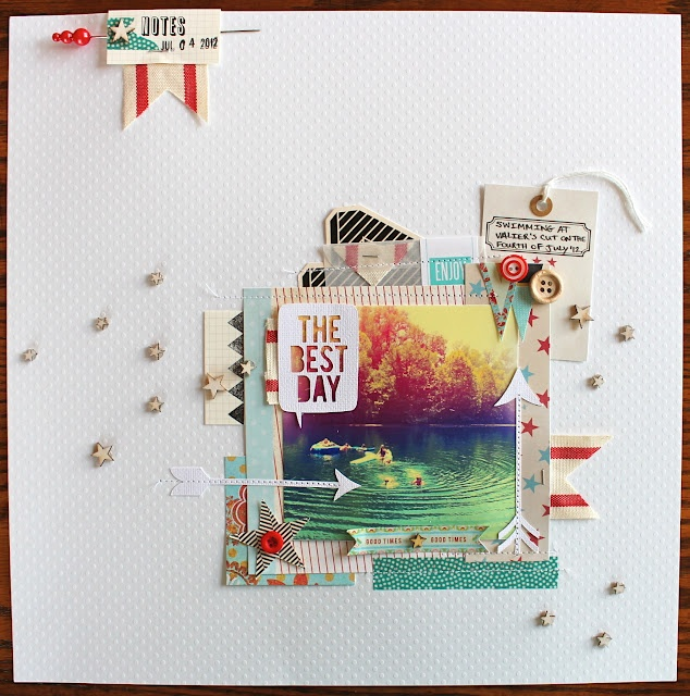 Table Scraps: Best Day Ever Love the little stars on the white space