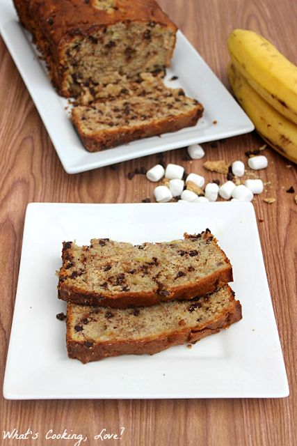 mores Banana Bread | Whats Cooking Love?