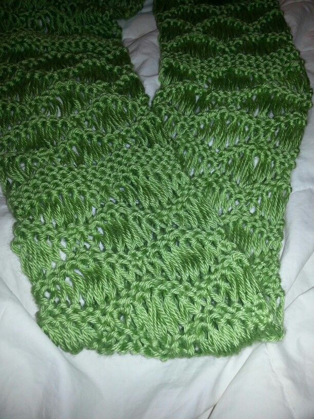 Crochet Stitch On Loom : Seafoam stitch on a loom! Looming and crochet crafts Pinterest