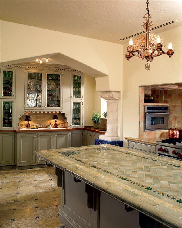 Spanish Revival Kitchen Island Tile Spanish Colonial