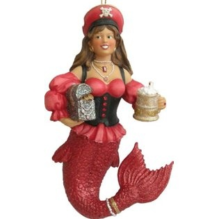 December Diamonds Spicy Hot Bloody Mary Buxom Mermaid Ornament-Holding ...