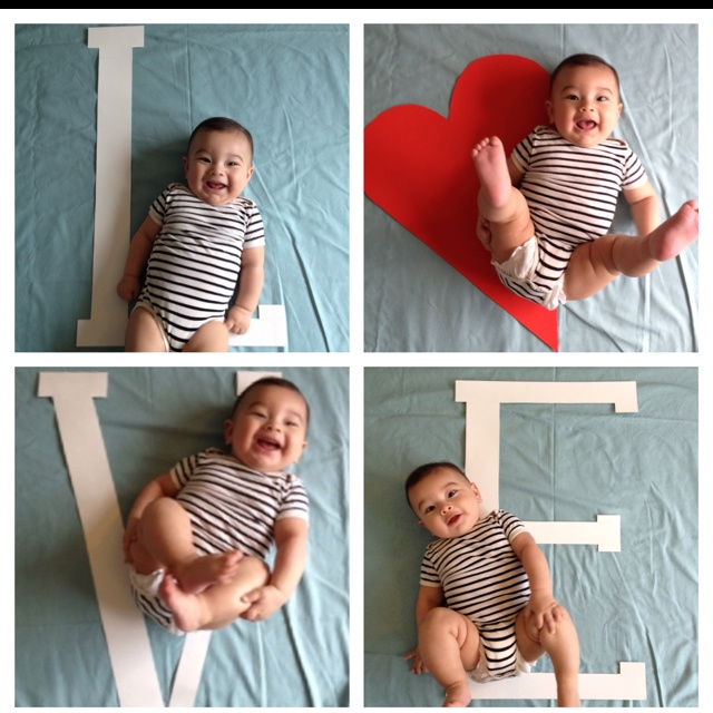 Mini Valentines photo shoot! All done with the iPhone and pic frame app! Cut out letters from project paper board.