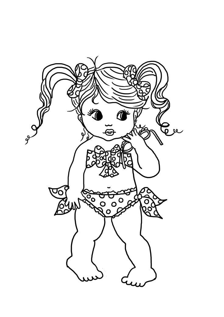 Artes da Nique: Risco para pintura - meninas