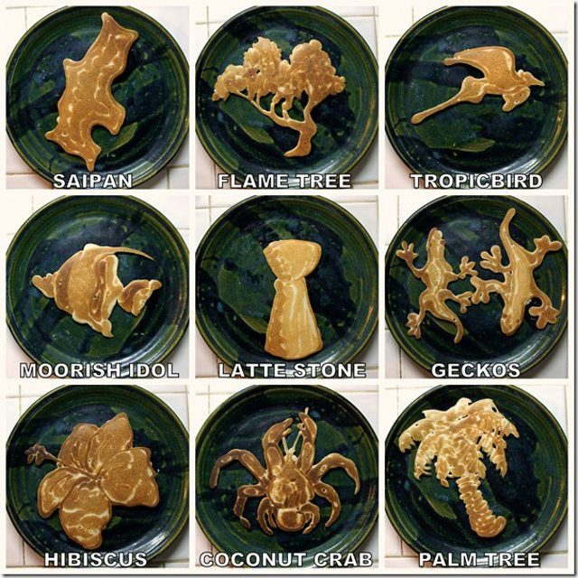 Pancake Art! (might try this using squeeze bottles....starting very ...
