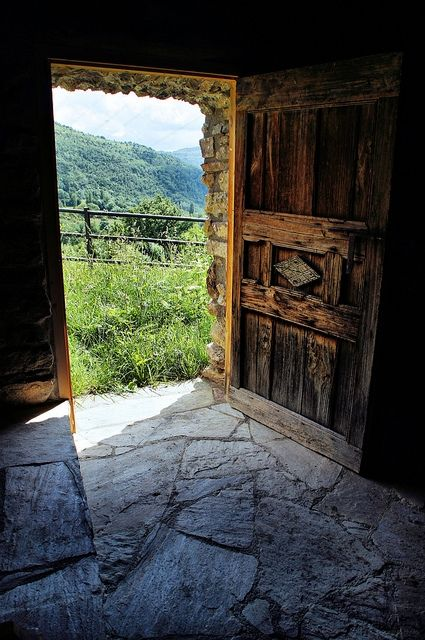 A Door and the Piece of Nature Behind It