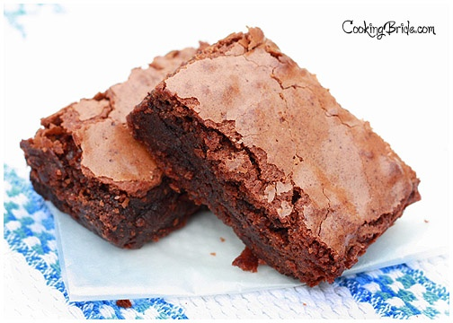 The Cooking Bride's chewy brownies - I love brownies!