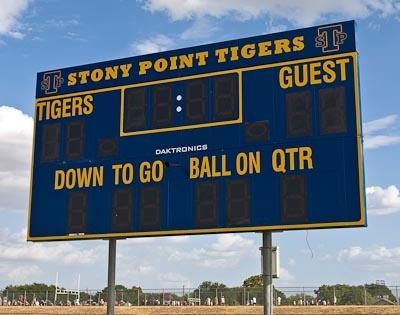 Football Scoreboard Template - klejonka