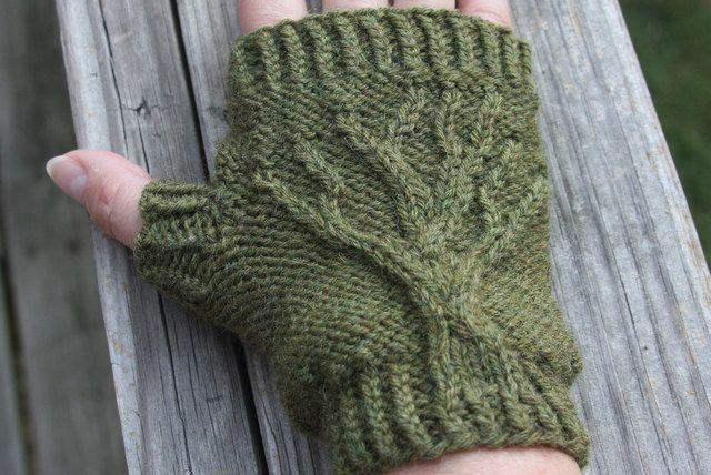 Tree Of Life Knitting Pattern : Tree of Life Fingerless Gloves Knit Pattern PDF