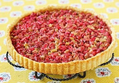 Rustic Rhubarb French Tart