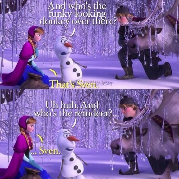 olaf and sven, sven, frozen, disney frozen, Sven Olaf comic