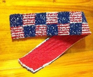 $22 Patriotic FarmCountryCrafts, White by   Table trivet Trivet Red Runner runner Blue table