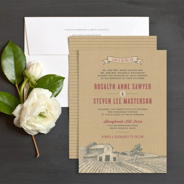Country Farm Wedding Invitation