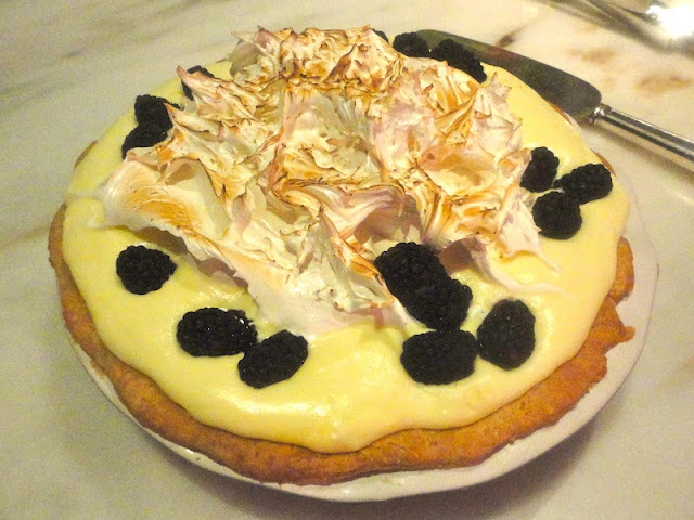 ... Blackberry and Lime Italian Meringue Pie from Bon Appetit
