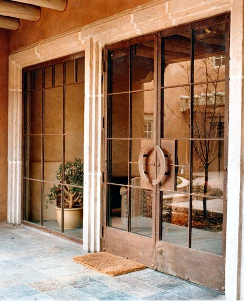 iron glass commercial entry doors sidelight windows santa fe