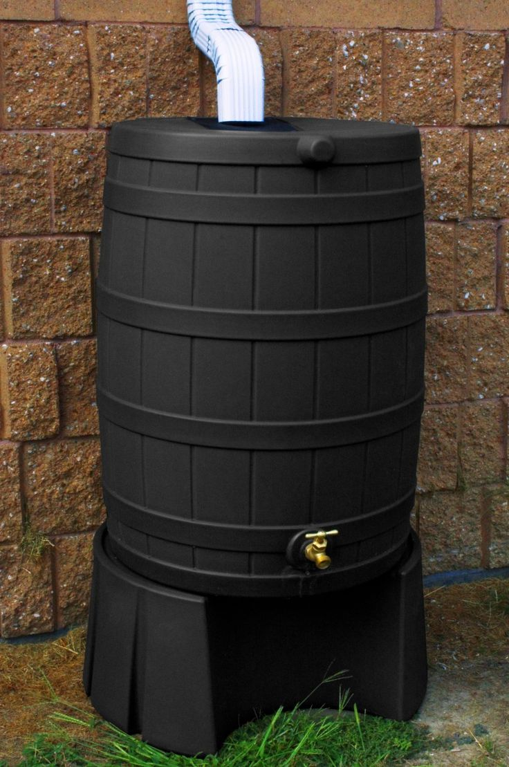 Good ideas black rain barrel with stand farmgirl pinterest for Rain barrel stand ideas