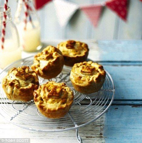 coronation chicken pies