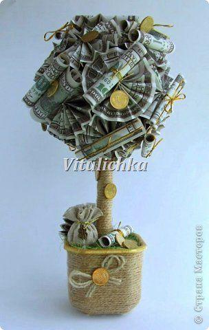 Денежное дерево топиарий своими руками мастер класс