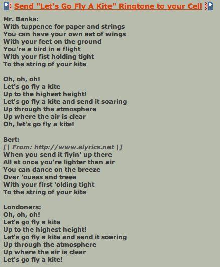 Let 39 s go fly a kite lyrics walter elias disney quot pinterest