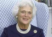 Barbara Bush 3 strand pearls