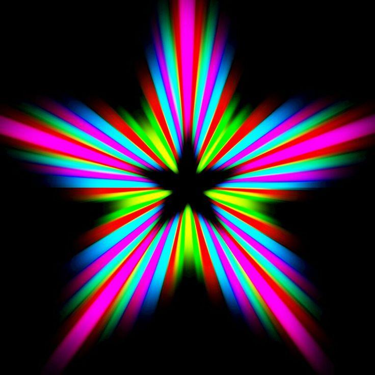 Big Flashy Colorful Star Star Clipart Pinterest