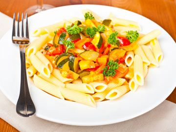 Penne with Spring Vegetables | Diet.com Recipes | Pinterest