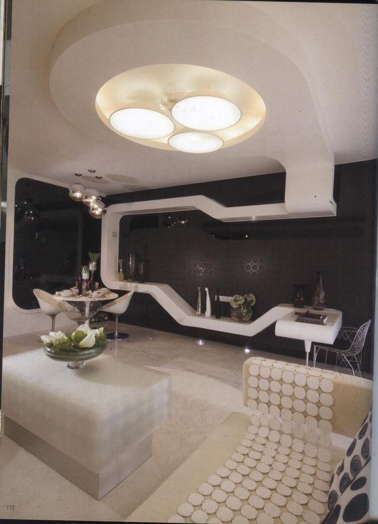 ultra modern room futuristic interior design corner