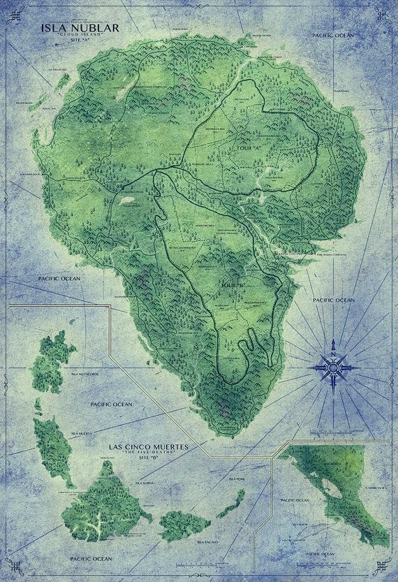 Map of Jurassic Park