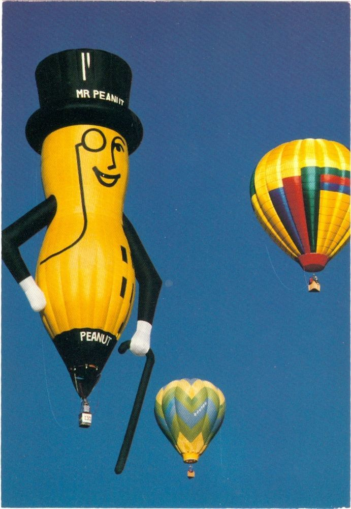 Planters peanut hot air balloon