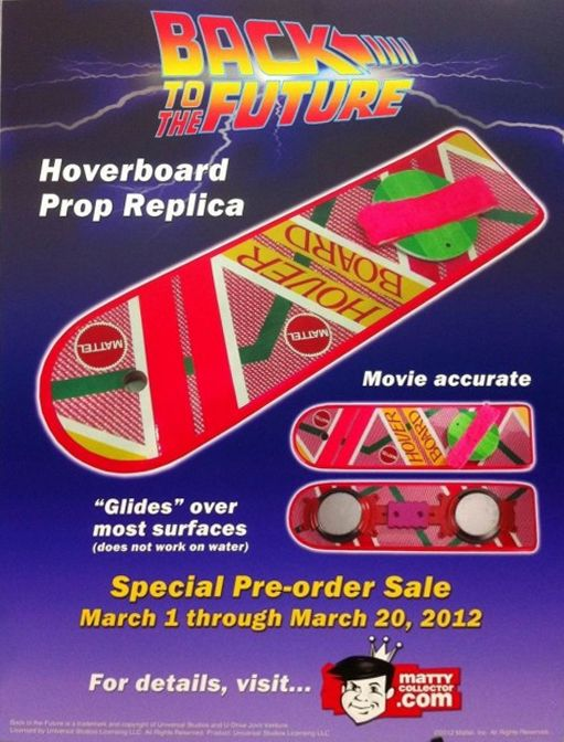 A Back to the Future 2 Hoverboard. Man we ALL wanted one of these...